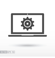 Computer flat Icon Sign Computer logo for web vector image vector image