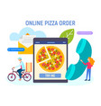 concept ordering pizza online fast order vector image vector image