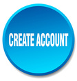 create account blue round flat isolated push vector image vector image