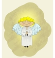 cute angel cartoon vector image