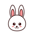 Cute bunny rabbit face modern