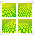 dotted green background set with perspective vector image