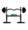 drawing brench press exercise gym design vector image