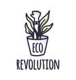 eco protest creative green poster concept green vector image