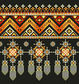 ethnic pixel pattern embroidery folk tribal vector image vector image