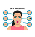 female face skin problems vector image