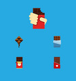 flat icon sweet set of shaped box delicious vector image