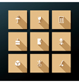 flat packaging icon set vector image vector image
