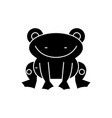 fog cute icon black sign on vector image