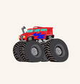 funny cute hand drawn cartoon monster truck vector image