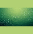 geometric dark green polygonal background vector image vector image