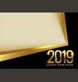 golden 2019 new year background with text space vector image vector image