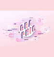 graphic word design - isometric letters on pastel vector image vector image