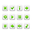 Green buttons for game vector image vector image