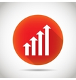 Growth chart icon vector image vector image