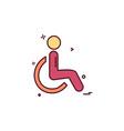 handicapped icon design vector image