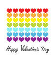 happy valentines day rainbow flag line icon heart vector image vector image