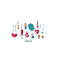 health care and medical icons vector image