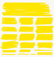 highlight marker yellow line color stroke vector image vector image