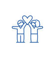 lovers line icon concept lovers flat vector image