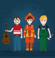 male workers cartoons vector image