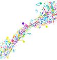 Multicolor Musical Design vector image vector image