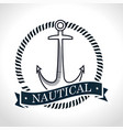 nautical frame with anchor vector image vector image
