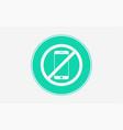no phone icon sign symbol vector image