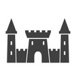 old castle black icon medieval old building vector image vector image