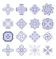 Ornament round set vector image