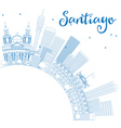 Outline Santiago Chile Skyline vector image vector image