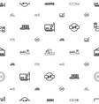 port icons pattern seamless white background vector image vector image