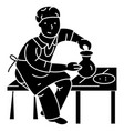 Pottery potter ceramist icon vector image