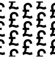 Pound symbol seamless pattern vector image vector image