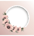 Red poppies floral round frame vector image vector image