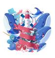 sea maritime collage vector image