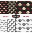 set american football patterns usa sports vector image