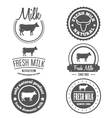 Set of vintage labels logo emblem templates for vector image