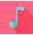 Sheet music with heart vector image vector image