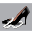 Shoe and pearl beads vector | Price: 1 Credit (USD $1)