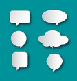 speech bubble icons paper cut talk symbols shapes vector image vector image