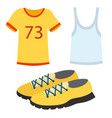 sportswear running clothes runner gears for sport vector image