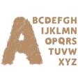 torn cardboard alphabet vector image