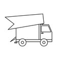 truck delivery on white background vector image