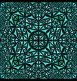 turquoise seamless kaleidoscope pattern vector image vector image