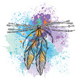 two feathers vector image