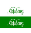 typography of the usa oklahoma states handwritten vector image vector image