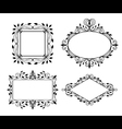 Vintage graphic frames vector image vector image