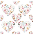 Watercolor pattern with animals flowers vector image