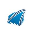 yacht logo design boat icon vector image